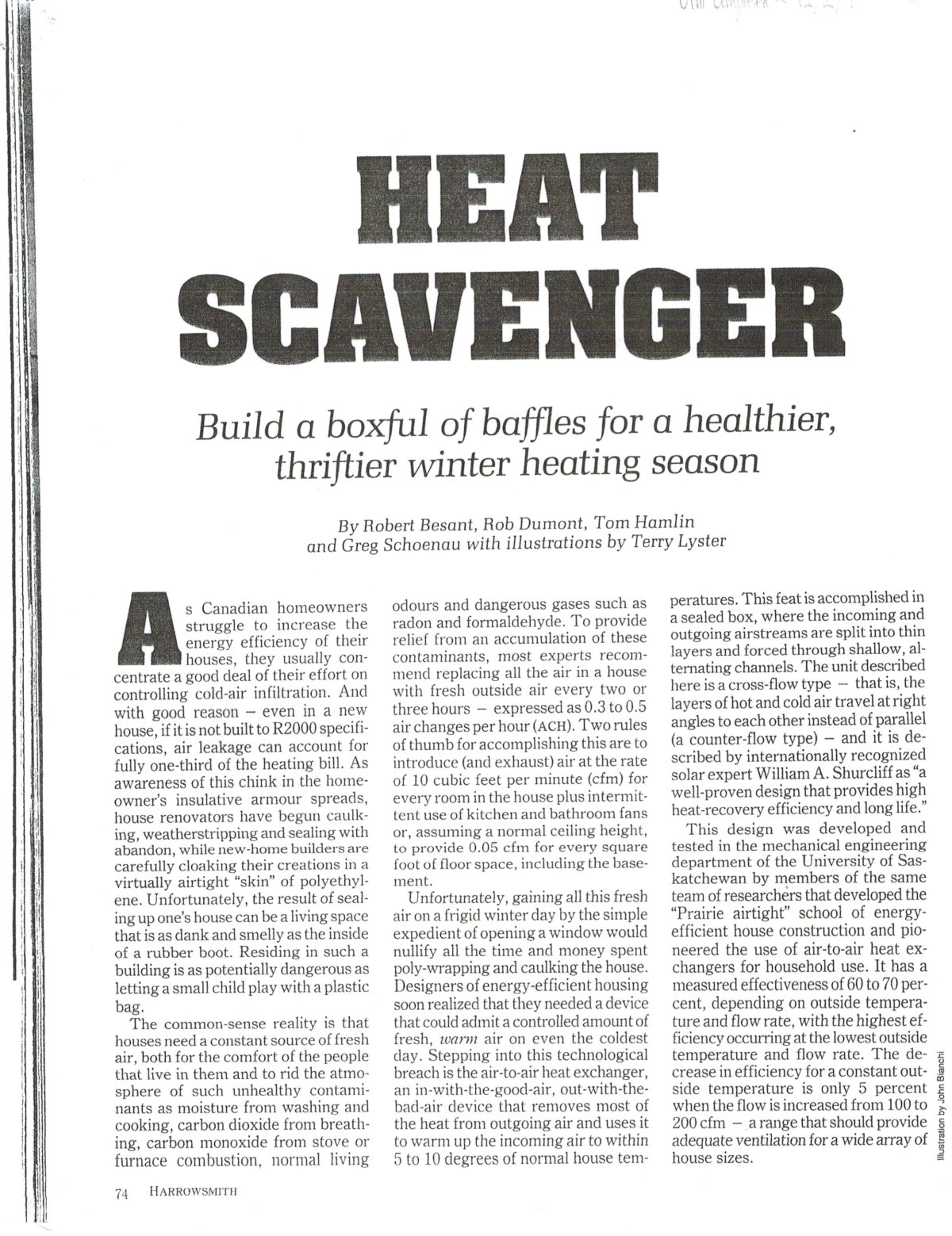 DIY Heat Recovery Ventilator (HRV) Plans