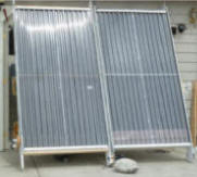 solar air heating collector side by side tests