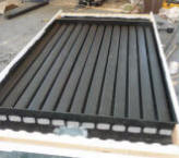 downspout solar air heating collector