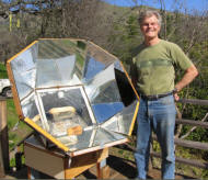 Bills new solar cooker