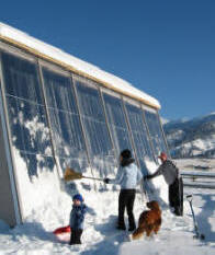solar shed solar space heating