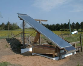 test solar crop dryer