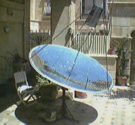 solar cooking with stored heat