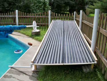 A unique open flow diy solar pool heating collector for Homemade solar panels for swimming pool heating