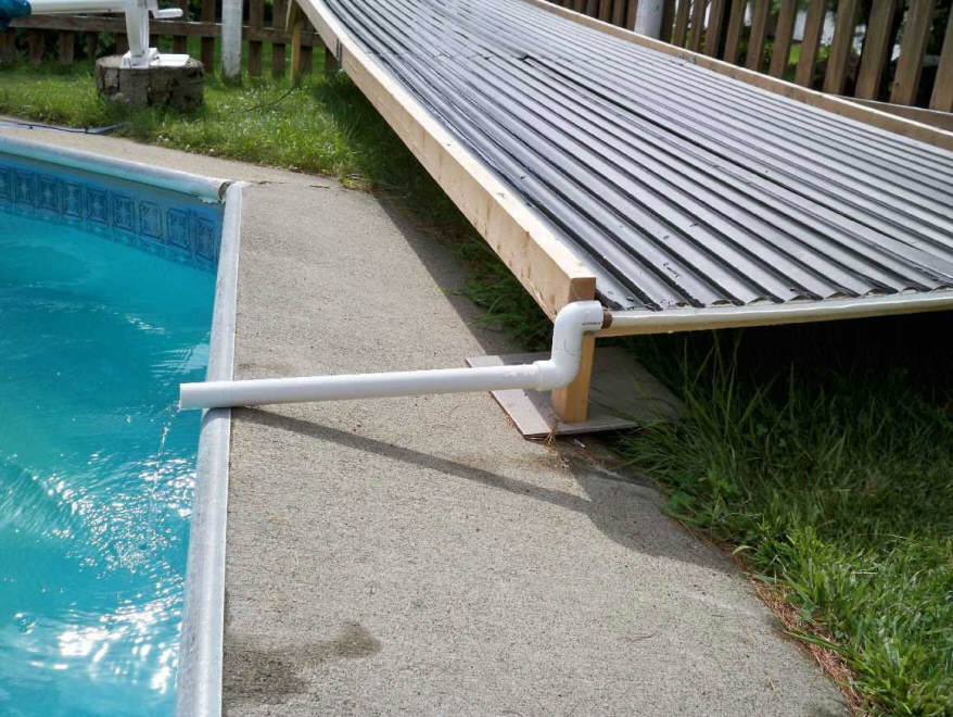 Pool Heaters For Piping : A unique open flow diy solar pool heating collector