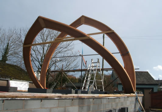arch supports for strawbale home