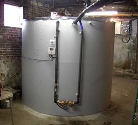 large solar heat storage tanks