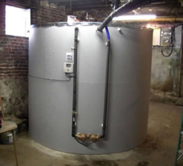 large DIY solar heat storage tank