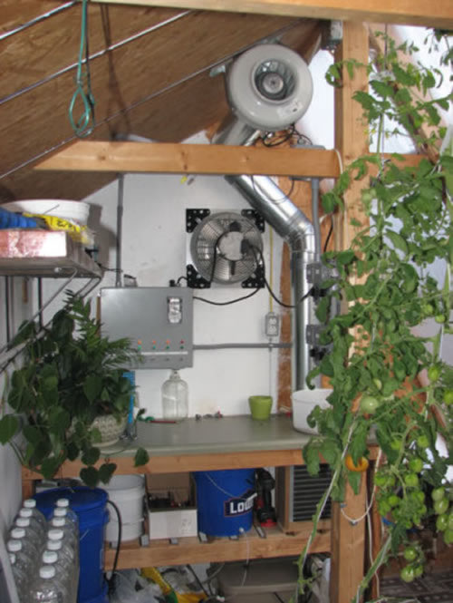 solar greenhouse heat exchanger