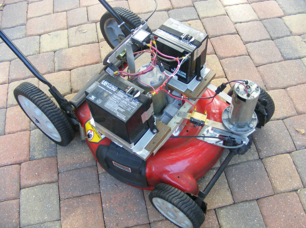 Diy solar powered self propelled electric mower conversion for Lawn mower electric motor