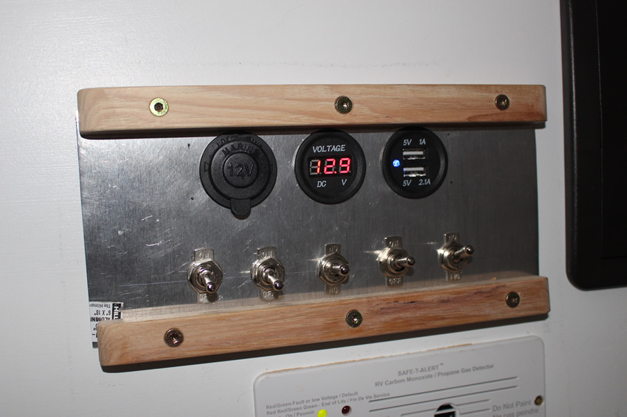 conversion van switch panel