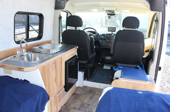 Inside the RV conversion