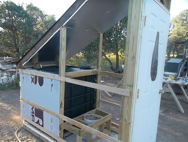 side view solar loo
