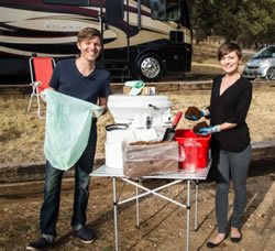 Using a composting toilet in RV full time