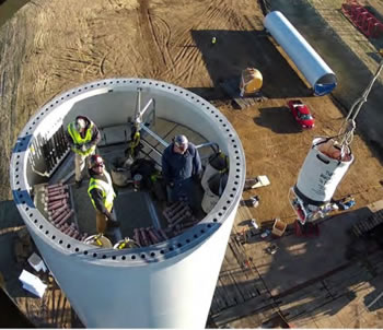 Large Wind Turbine Construction