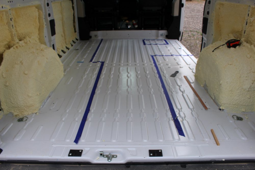 Our Promaster Camper Van Conversion Flooring Build A